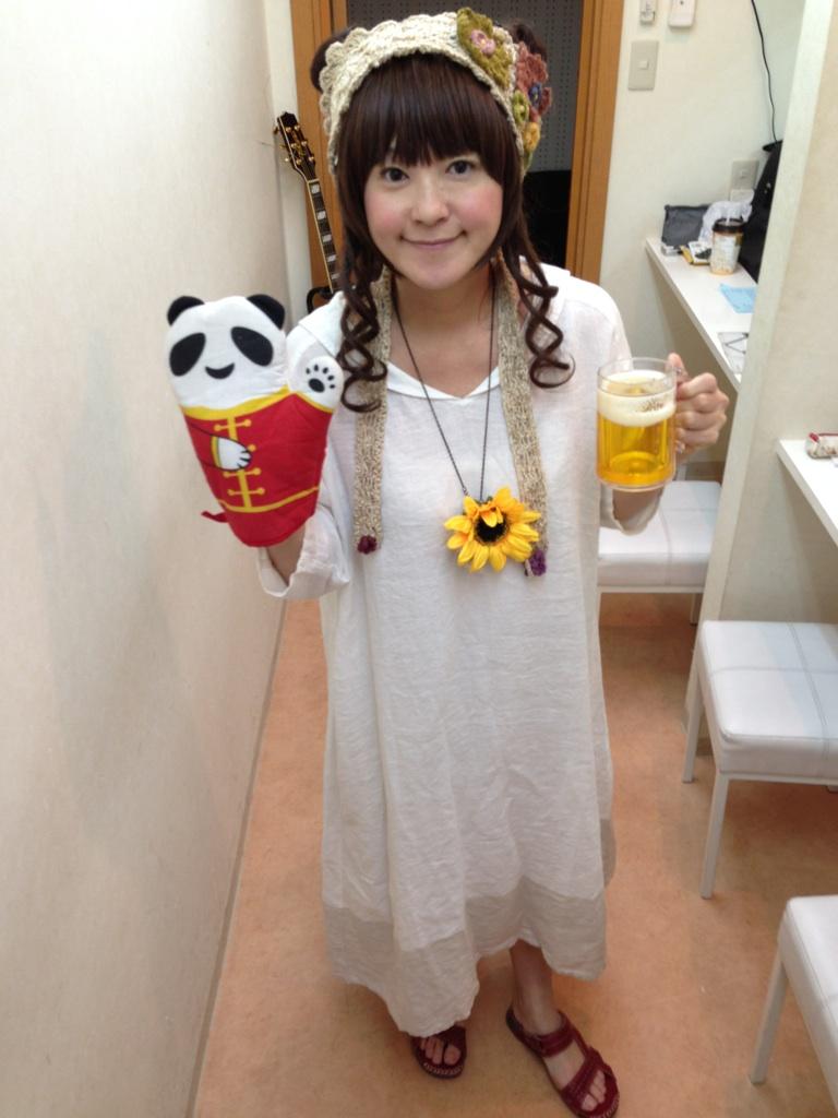 向日葵とパンダとビール@miiya cafe
